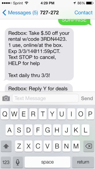 REDBOX: Surprise Mobile Codes | Menomonie Mom