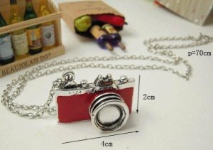 Red Camera Necklace